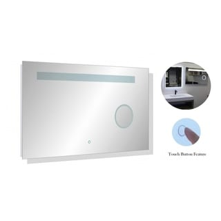 """39-1/2"""" x 23-1/4"""" Wall Mount LED Bathroom Mirror Touch Button Dual Light With Magnifier"""
