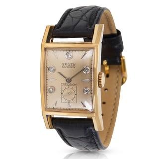 Gruen Curvex 370-615 Unisex Watch in Yellow Gold