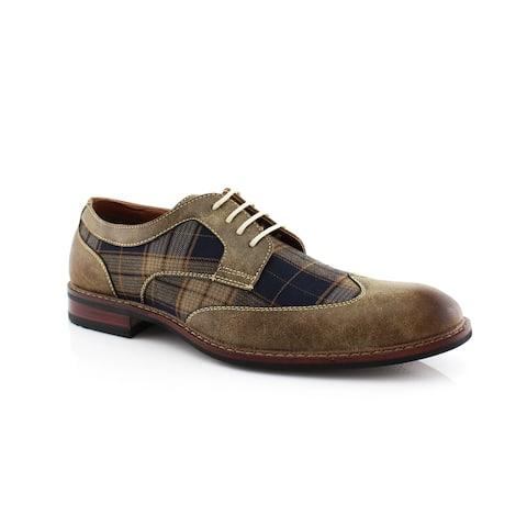 Ferro Aldo Julian MFA19266APL Men's Wingtip Oxfords Dress Shoes For Work or Daily Wear