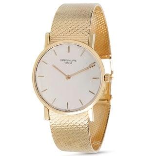 Patek Calatrava 3470/1 Unisex Watch in 18k Yellow Gold