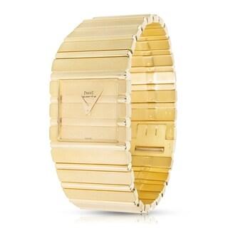 Piaget Vintage 1980s Polo 7131 C701 Quartz Men's Watch in 18K Yellow Gold