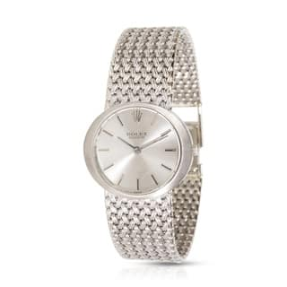 Rolex Cellini 3657 Women's Vintage Watch in 18K White Gold|https://ak1.ostkcdn.com/images/products/17677107/P23885805.jpg?impolicy=medium