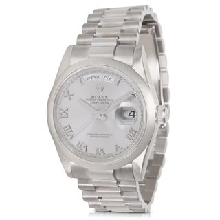 Rolex Day-Date 118209 Men's Watch in White Gold