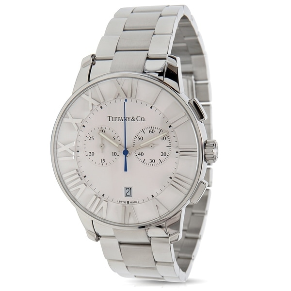 2b9ce36864f7d Shop Tiffany & Co. Atlas 42 Men's Watch in Stainless Steel - Free ...