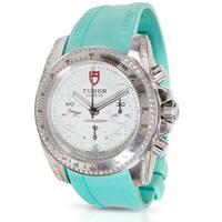 Tudor Blue/Silvertone Stainless Steel Chronograph Unisex Sport Watch