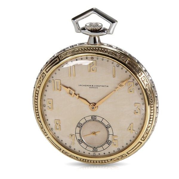 15e4f80d9 Vacheron Constantin Vintage Pocket Watch in 18K White Gold & 18K Yellow  Gold