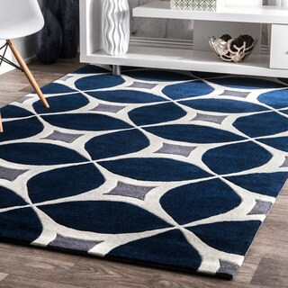 Palm Canyon Kona Handmade Navy Area Rug (6' x 9')