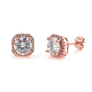 Eternally Haute 5 Carat Tw Halo Stud Earrings