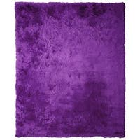 "Soft Fluffy Thick Solid Purple Non-Skin Shaggy Shag Pile Area Rug Carpet (2'6"" x 7'3"")"