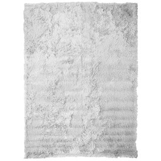 "Soft Fluffy Thick Solid White Non-Skin Shaggy Shag Pile Area Rug Carpet (2'6"" x 7'3"")"
