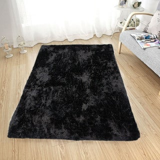 Soft Fluffy Thick Solid Shaggy Shag Pile Area Rug