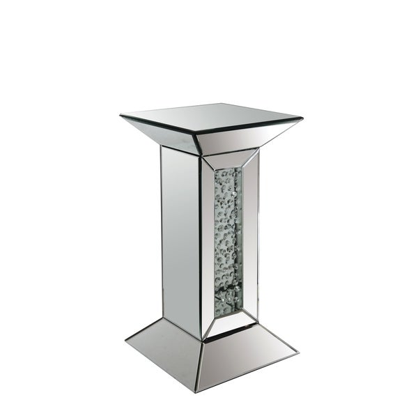 Shop Acme Furniture Nysa Mirrored Pedestal Accent Table