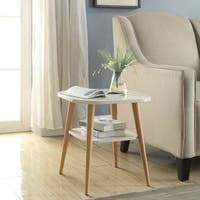 Milo Square Accent Table With Round Legs