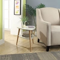 Milo Triangle Accent Table With Round Legs