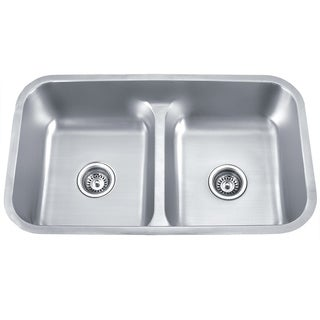 Soci 50/50 Low Divide Stainless Steel Kitchen Sink