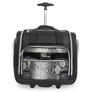 BEBE Tiana 15-inch Underseater Rolling Carry On Tote Bag