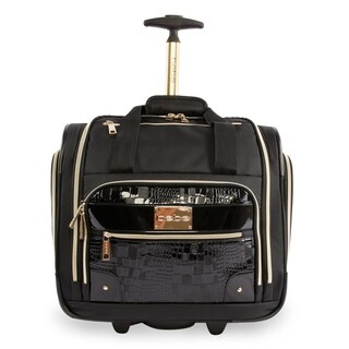 BEBE Danielle 15-inch Underseater Rolling Carry On Tote Bag