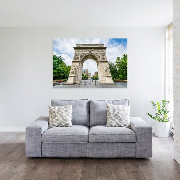 Noir Gallery Washington Square Arch, NYC Photo Print on Metal.