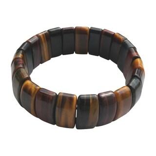 Coffee Jade Elasticized Bracelet