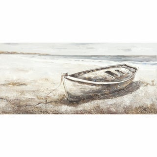 Yosemite Home Decor Lonesome Boat on the Beach Original Hand-Painted Wall Art
