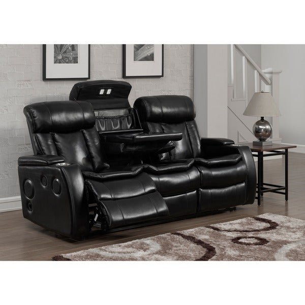Tremendous Shop Bluetooth Black Power Recliner Sofa With Usb Ships To Dailytribune Chair Design For Home Dailytribuneorg