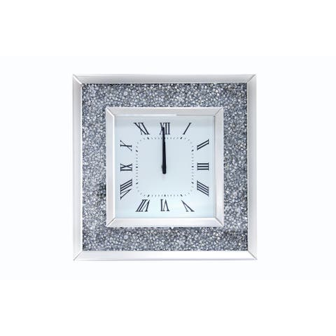 Acme Furniture Noralie Mirrored Wall Clock