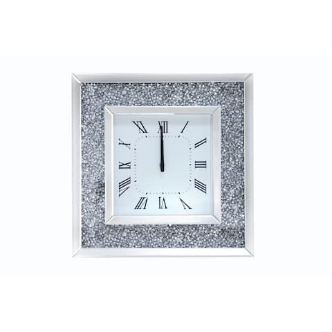 Acme Furniture Noralie Mirrored Wall Clock