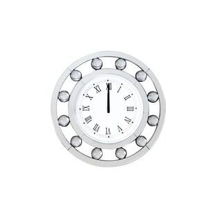 Acme Furniture Boffa Mirrored Wall Clock