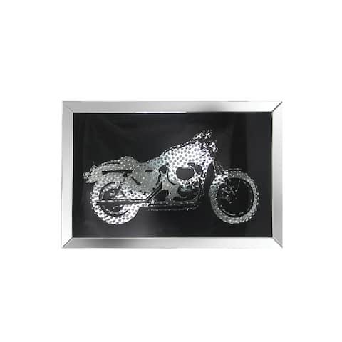 Acme Furniture Nevina Mirrored Wall Decor, Crystal Bike