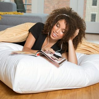 Giant 36-inch Dorm University Floor Hypoallergenic Floor Cushion Pillow - White