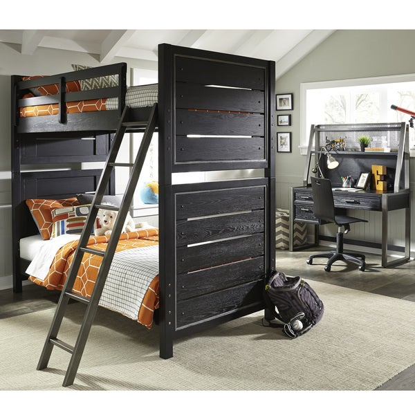 Pulaski Graphite Youth Bunk Bed with Full Extension