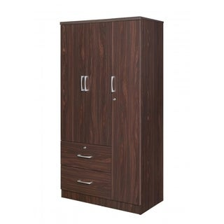 Best Quality Furniture Rosewood 3-door Wardrobe with Locks