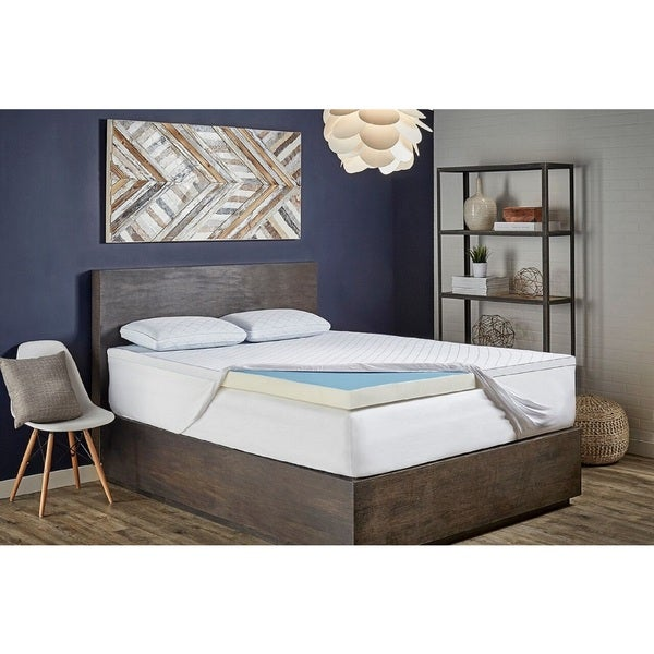 Shop Sealy Perfect Chill 3 Inch Memory Foam Mattress Topper Free