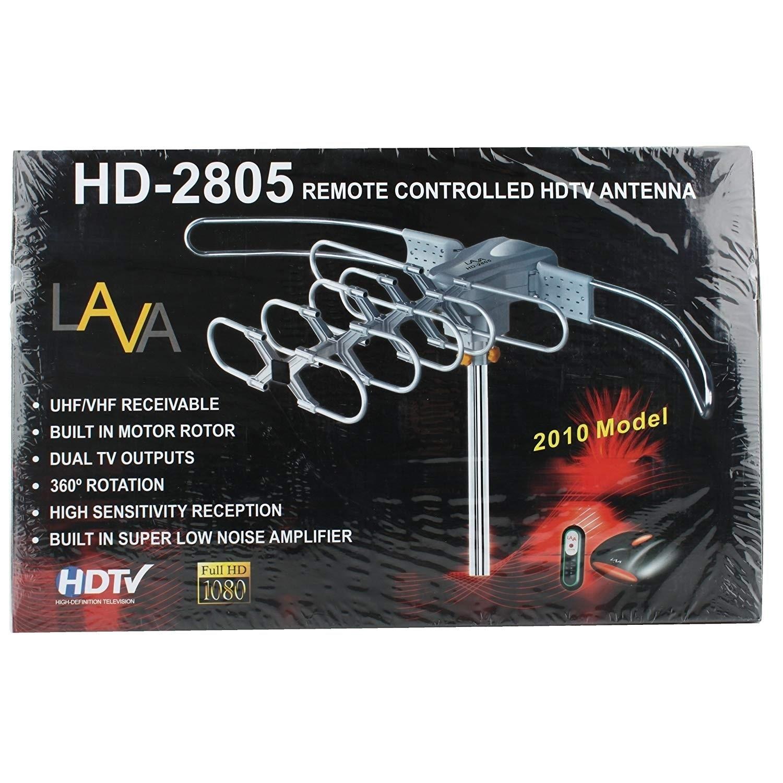 Lava UHF/VHF Outdoor Hdtv Antenna with Motor Rotor HD-280...