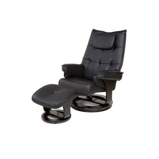 Relaxzen 60-051005  8-Motor Massage Recliner with Lumbar Heat and Ottoman, Black