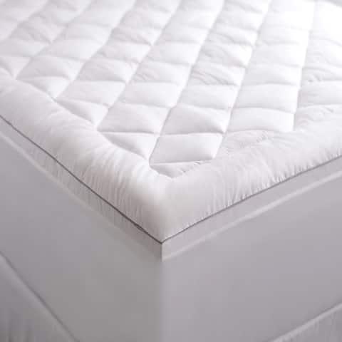 Cozy Classics Comfort Pure Allergy Proof Mattress Topper - White