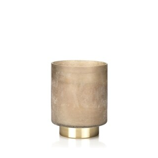 """""""Cortina"""" Large Glass Candle Jar, Tobacco Flower Scent, Taupe"""