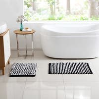 VCNY Home Reily Two Tone Cotton Blend Cut Pile 2-piece Bath Rug Set