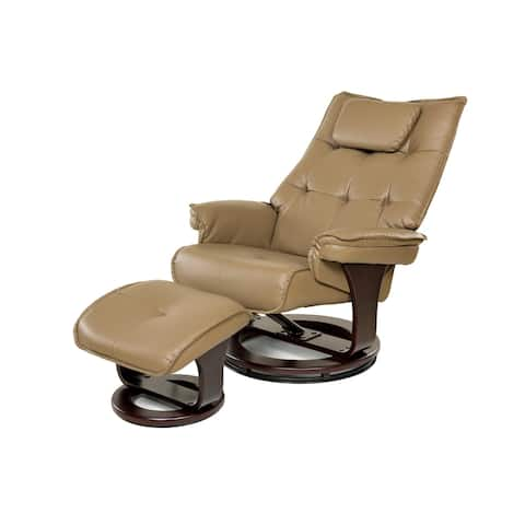 Relaxzen 60-051026 8-Motor Massage Recliner with Lumbar Heat and Ottoman, Mocha