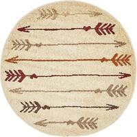 """Unique Loom Autumn Arrow Round Rug - 3'3"""" round"""