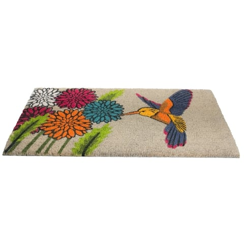 Imports Décor Blue Hummingbird Stylish Decorative Door Mat - Door Mat