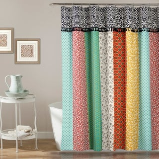Lush Décor Boho Patch Shower Curtain