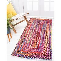 Unique Loom Braided Chindi Rug - 2' 6 x 6' Runner