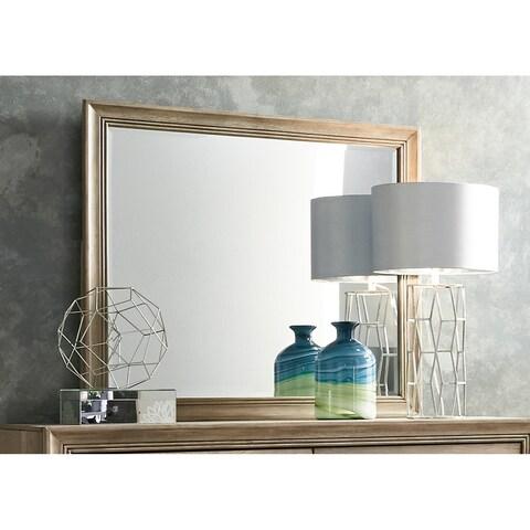 Sun Valley Sandstone Rectangular Mirror - Beige/Brown