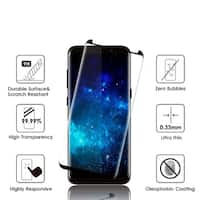 Samsung Galaxy S8 3D Curved Edgeless Tempered Glass Protector 0.3Mm Arcing - Black
