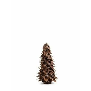 "12"" Tall Mahogany Leaf Cone Christmas Tree"