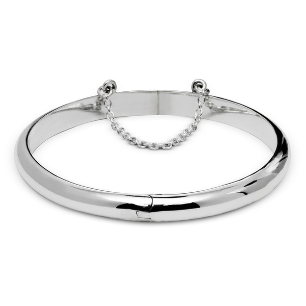 Sterling Silver 6 Inch 5mm High Polish Hinged Round Children X27 S Bangle