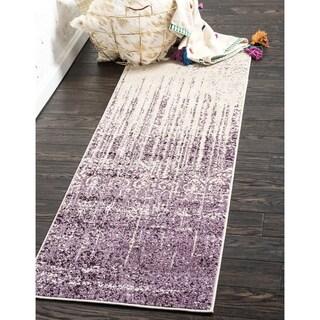Del Mar Purple Abstract Runner Rug (2'2 x 6')