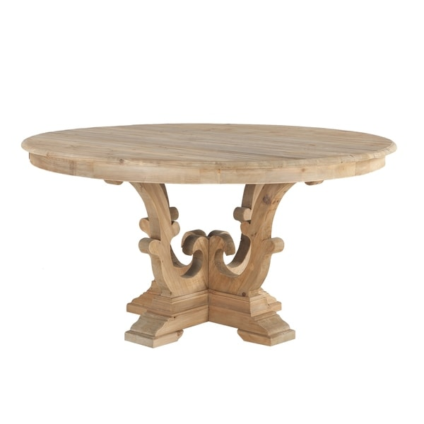 Solid Pine Round Dining Table By World Interiors Free Shipping - Solid pine round dining table