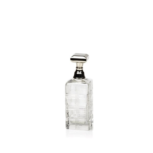 Cut Glass Decanter, Nickel Stopper